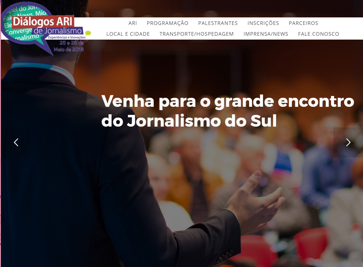 Capa do site www.dialogosari.com.br